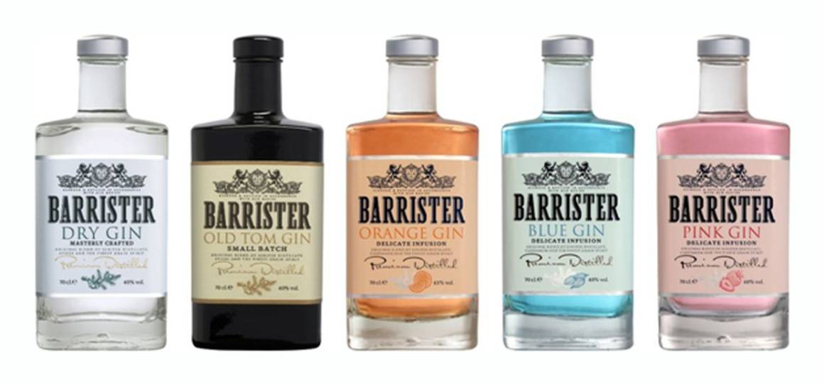 barrister gin, Barrister Orange, Barrister Blue, Barrister Pink, Barrister Old Tom, Barrister Dry, Ladoga