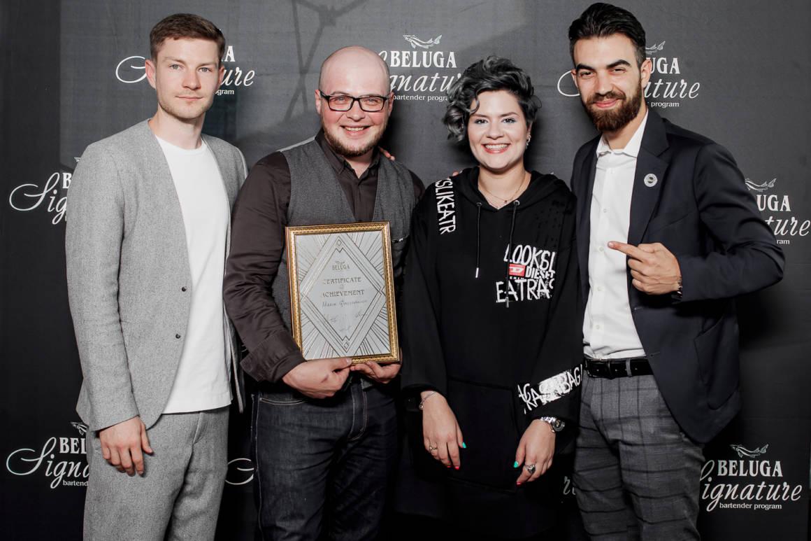 contest winner beluga signature, beluga, vodka beluga, beluga contest, barman contests, Maxim Gladishkevitch, Arina Nikolskaya, Alessandro Venturi