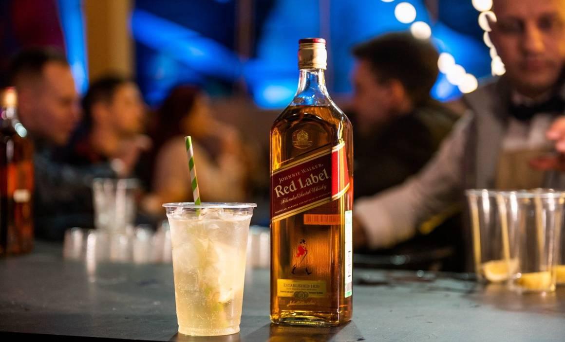 коктейль johnie walker, коктейль виски с лимоном, фестиваль park live