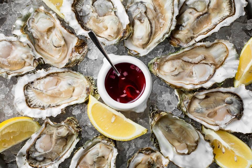 la perla seafood bar, устрицы, коктейли, вино, шампанское