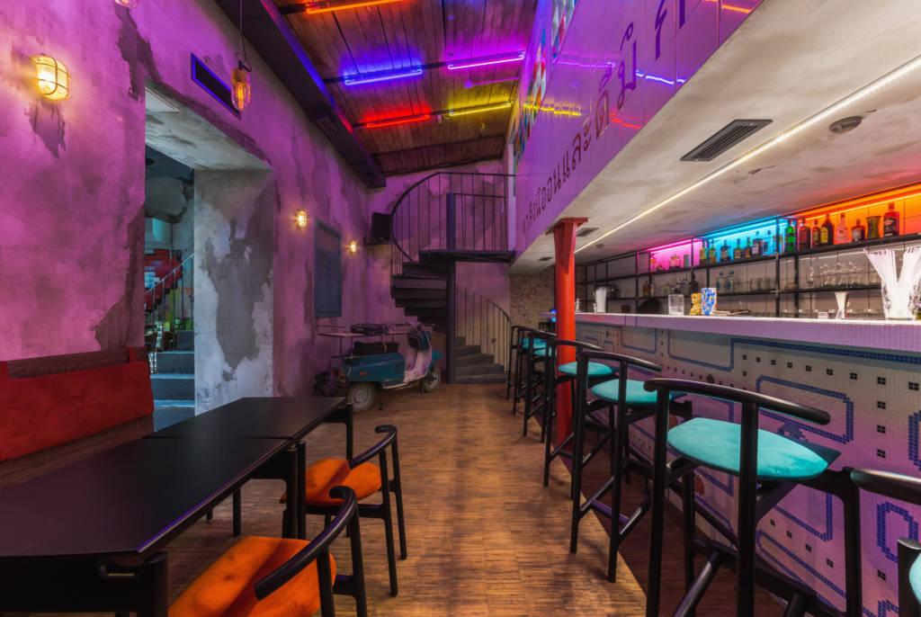 neon monkey, дизайн бара, бао в москве, коктейльное меню