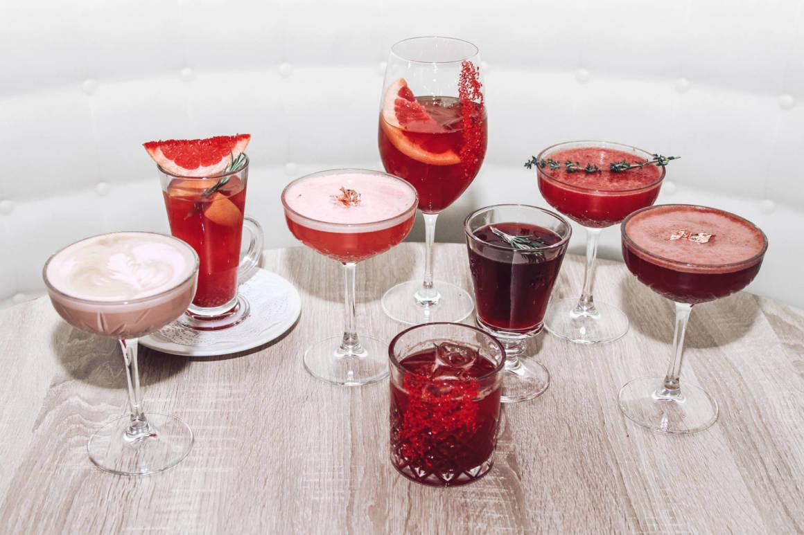red collection, 14 февраля, день святого валентина, красный коктейль, ресторан вино вода, dcw magazine