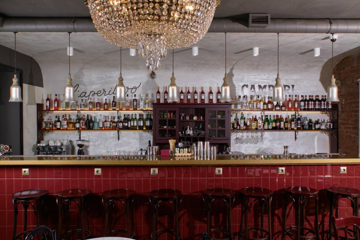 PRIMI Aperitivo Bar, DCW Magazine, журнал о барах, еда и вино, куда пойти в петербрге, бары петроградки, бесплатные закуски, аперитив в питере, новый бар, дизайн бара, барная стойка