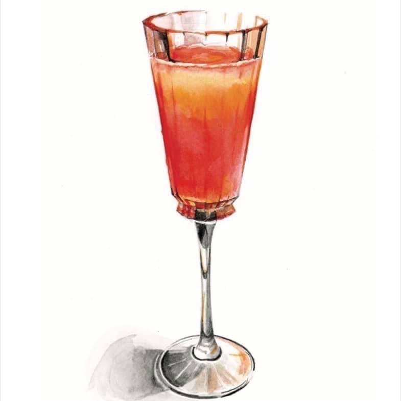 Бар Noor, коктейли, рассказ, книга коктейлей, куда пойти в москве, dcw magazine, журнал о барах, картинка коктейля, нарисованный коктейль